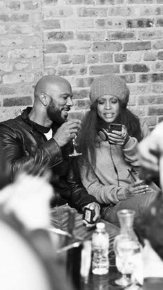 Erykah Badu & Common back when. Soul Music, Music Love, Music Is Life, My Black Is Beautiful, Black Love, Beautiful People, Hip Hop Artists, Music Artists, Arte Black