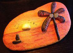 Sunset #rockpainting Pebble Painting, Pebble Art, Stone Painting, Rock Painting, Painted Rock Cactus, Painted Rocks, Stone Crafts, Rock Crafts, Pebble Stone