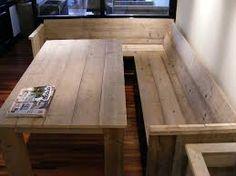 Afbeeldingsresultaat voor eetkamerbank hout met rugleuning 200
