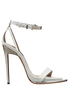 white shoe, anklestrap sandal, fashion, style, 2013 springsumm, women accessori, caval 2013, roberto cavalli, accessories