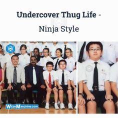 Chinesen Witze - Klassenfoto Fail - Ninja Wichser - Thug Life
