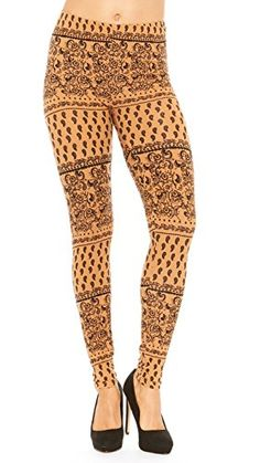 Just One Women's Full-Length Soft Peach Skin Leggings (Pa...
