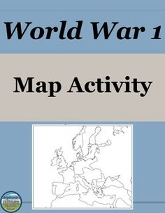 World War Task Cards For US History Activities Teacher - World war 1 map activity us history