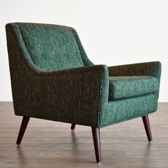 Gingko Home Furnishings Rex Armchair Upholstery: Jade Living Room Furniture, Home Furniture, Luxury Furniture, Modern Furniture, Furniture Design, Mid Century Chair, Cool Chairs, Blue Chairs, Living Room Modern