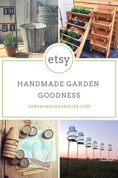 It's time to get out into the garden and I have searched Etsy to find the best handmade garden goodness! Check out these fun links!