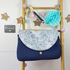 sac à langer lilaxel bleu indigo et liberty adeljda bleu - www.lepetitmondedelilaxel.com