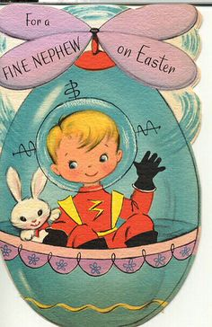 Space Kid Easter Card by grickily, via Flickr