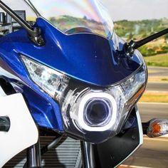 Honda CBR250R Angel Eye HID LED Projector  Headlight Assembly 2011-2013