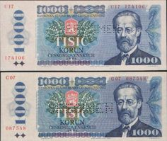 €~Czechoslovakia 1000 Krone 1985 Czech Republic, Coins, Banknote, Baseball Cards, Personalized Items, Paper, Beautiful, Historia, Europe
