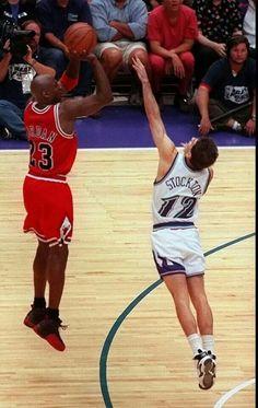 Michael Jordan and John Stockton - Utah Jazz