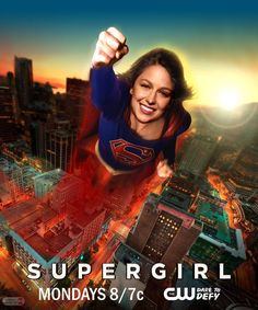 Melissa Benoist as #Supergirl in a season two poster.
