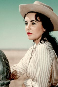 vintagegal: Elizabeth Taylor in a promotional photo for Giant (1956)