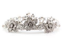 Crystal Rose Tiara by Richard Designs