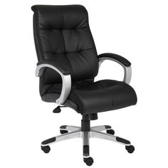 Boss Office Products High-Back Double Plush Executive Chair & Reviews   Wayfair