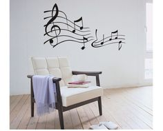 (Various Color) Music Note Decor Mural Art Wall Sticker Decal WY717