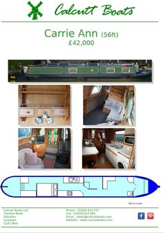 1993 56-ft Colecraft hull with owner fit out powered by a Nanni 450 with a Prm gearbox. Accommodation from the stern as you enter down the stern steps to have a bedroom that has a fold up double bed that has seating under this flows into the galley which has a gas hob and oven a washing machine and microwave next is the bathroom with porta potti toilet and shower last is the saloon with fixed bench seating a single chair and a multifuel stove. Boat safety until April 2022. Canal Boat Holidays, Boat Safety, Single Chair, Bench Seat, Boats For Sale, Heating Systems, Double Beds, Folded Up, Washing Machine