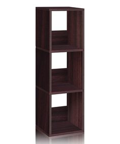 Espresso Eco Three-Shelf Bookcase by Way Basics  #zulilyfinds $39.99 $70.00 retail  This easy-to-assemble bookcase is perfect for small spaces with a compact design that's made from recycled materials to keep clutter organized while staying environmentally friendly.   Weight capacity: 50 lbs. 11.2'' W x 44.8'' H x 13.4'' D Recycled paperboard Minimal assembly required Imported