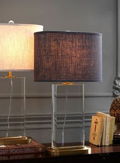 Table lamps are great for adding ambiance to a room. We love the warm glow that exudes from a lamp when the overhead lights are turned off.