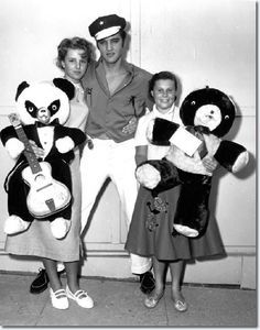 Elvis with fans, October 1956