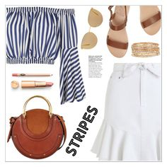 """""""Stripes"""" by christinacastro830 ❤ liked on Polyvore featuring Love, Ancient Greek Sandals, Zimmermann, Mykita, Chloé and Kendra Scott"""