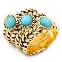 Joanna-Turquoise stones in antique style stackable rings bring together the best of modern and retro in a classic trio of taste. $58  www.jillzarinjewelry.com