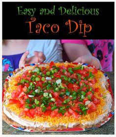 This delicious and simple taco dip can be whipped up in minutes. Even your kids will become experts at making this family favorite snack that can easily become a simple Sunday Supper.