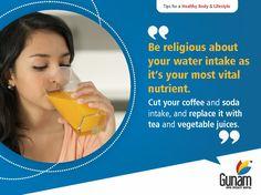 Drinking Water helps maintain the balance of body fluids. #GunamSuperSpecialityHospital #healthtips #Healthcare #HospitalinHosur #healthyindia #eathealthy