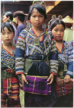 T''boli children in traditional clothes. Southern Mindanao, Philippines.
