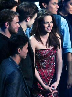 Rob looking & smiling at his girl. Kristen looking beautiful. This picture is perfect! <3
