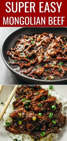 beef recipes Best authentic easiest mongolian beef - Mongolian beef is an easy and fast stir-fry recipe with tender flank steak beef slices and a bold sticky sauce with a hint of spiciness. Its served with steamed rice or noodles. Just like PF Changs. Mongolian Beef Recipe Pf Changs, Easy Mongolian Beef, Mongolian Beef Recipes, Authentic Mongolian Beef Recipe, Mongolian Beef Noodles Recipe, Stir Fry Recipes, Healthy Recipes, Food Dinners, Bon Appetit