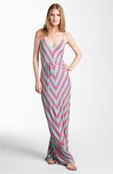 FELICITY & COCO Chevron Print Jersey Maxi Dress