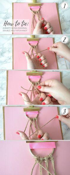 DIY Macrame Curtain Tie Backs Tutorial