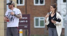 Tom Hardy leaving the gym with Charlotte Riley.   April 24, 2017.
