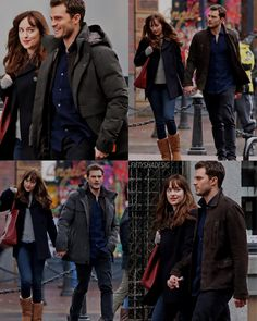 Jamie and Dakota filming reshoots for #Darker 3/7/16. These are reshoots from the scene they filmed last week. #fiftyshadesdarker