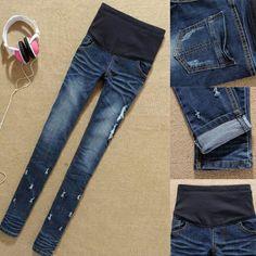 Fashion Maternity jeans,Slim pencil pants for Pregnant women,big/plus size XL,Pregnant trousers/Jeans,Autumn Maternity clothing
