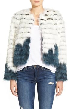 Glamorous Faux Fur Jacket available at #Nordstrom. Size small.