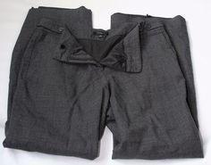 Ann Taylor Dark Gray Lined Dress Pants Size 14 With Two Front Pockets #AnnTaylor #DressPants
