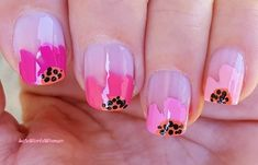 Only 1 #toothpick needed #pink #floral #frenchmanicure French Manicure Nails, French Manicure Designs, French Nails, Nail Designs, Easy Nail Art, Nail Tutorials, Simple Nails, Easy Diy, Floral