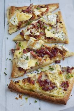 Sandwich recipes 242701867403058508 - Tarte campagnarde au camembert Source by Easy Bread Recipes, Tart Recipes, Pizza Recipes, Cooking Recipes, Sandwich Recipes, Quiches, Fingerfood Party, Good Food, Yummy Food