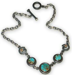 Robert Grey Kaylor #blue gem #turquoise RealSteel necklace