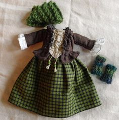 18th C. Scottish Outlander Outfit for Hitty Dolls by Islecroft