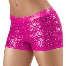 Short-length sequin spandex shorts Premium Metallic waistband and trim All sizes are fully lined Glitter free! Sparkly Shorts, Glitter Shorts, Pink Sparkly, Sequin Shorts, Pink Glitter, Metallic Shorts, Pink Sequin, Cheer Shorts, Dance Shorts