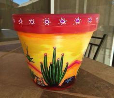 45 Ideas Painting Flower Pots Mexican For 2019 Flower Pot Art, Flower Pot Design, Mosaic Flower Pots, Flower Pot Crafts, Clay Flower Pots, Painted Plant Pots, Painted Flower Pots, Clay Pot Projects, Clay Pot Crafts