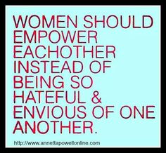 Women should empower...