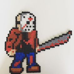 Jason Voorhees (Friday The 13th) perler beads by imayfair