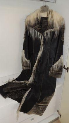 d58d848db9e Sheepskin-Coat-Jacket-Coat-Womens-Leather-Fur-Goat-Black-Made-in-Italy