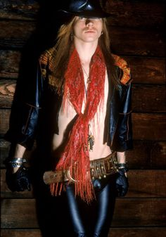 Vintage pic of Axl Rose - another of my crushes back in the day, will you look at those hips! Yum ;)