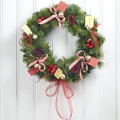 Berries, Bows and Tags Christmas Wreath... tutorial and video demo =)