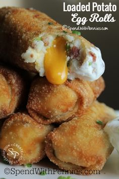Loaded Mashed Potato Egg Rolls