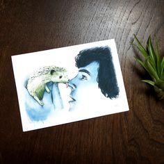 Detective Hedgehog Greeting Card | Sherlock and Hedgehog Friend | Johnlock Card